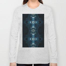 Fractal Art - Blue Corals Long Sleeve T-shirt