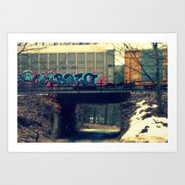 BOZO on a Train  Art Print