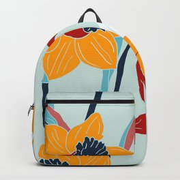 Mid Century spring flowers Backpack