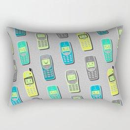 Vintage Cellphone Pattern Rectangular Pillow