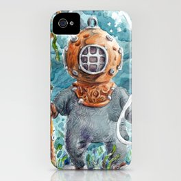 Old time diver iPhone Case