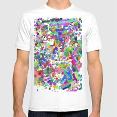dots Mens Fitted Tee MEDIUM White