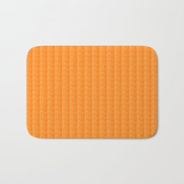 Orange Smooth ripples Bath Mat