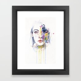 miss bow tie Framed Art Print