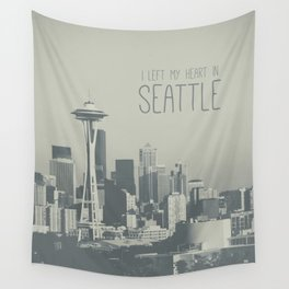 I LEFT MY HEART IN SEATTLE Wall Tapestry