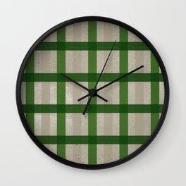 Evergreen Cozy Cabin Plaid Wall Clock