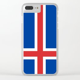 Flag of Iceland - High Quality Image Clear iPhone Case