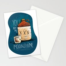 You are my Moonshine Stationery Cards