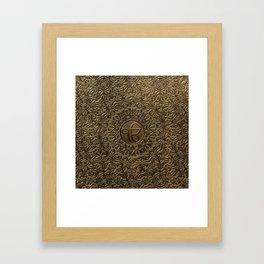Decorative Ek Onkar / Ik Onkar  embossed on gold Framed Art Print