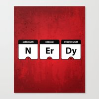 atheist Canvas Prints featuring Nerdy Periodic Table by EnvyArt