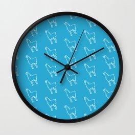 Cyan Rad Llama Wall Clock