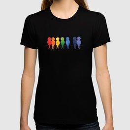 Rainbow Birds on a Wire T-shirt