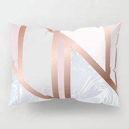 White Pastel Art Deco Pillow Sham