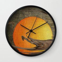 Golden orb Wall Clock