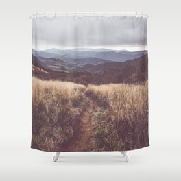 Bieszczady Mountains - Landscape and Nature Photography Shower Curtain