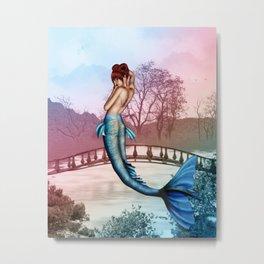 Oriental Mermaid Metal Print