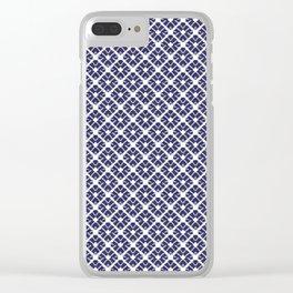 Shibori Diamonds Clear iPhone Case