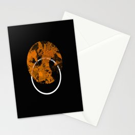 Collusion - Abstract in black, gold and white Stationery Cards
