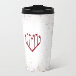 Music Heart gray Travel Mug