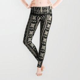 Boho Mud cloth (Black and White) Leggings