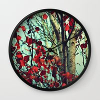 moulin rouge Wall Clocks featuring Rouge  by Slight Clutter