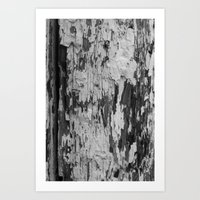 Chipping Away Art Print