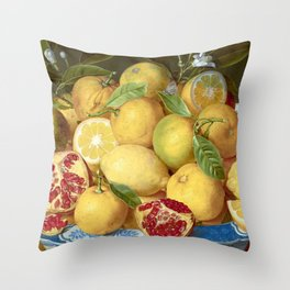 Still Life with Lemons, Oranges and a Pomegranate Throw Pillow