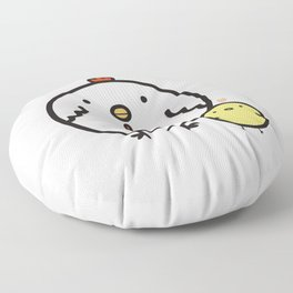 Cute chick and chicken Floor Pillow