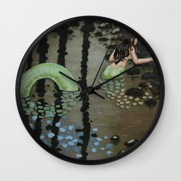 Sea Under the Forest Wall Clock