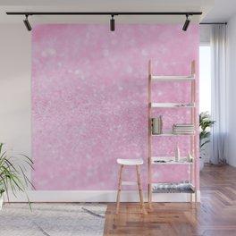 Pink Shiny Glitter Abstract Bokeh  Wall Mural