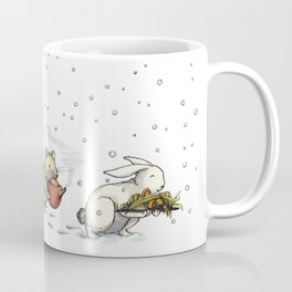 Animals Off To The Snowy Feast Coffee Mug