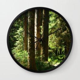 Walkway in Hoh Rainforest Wall Clock