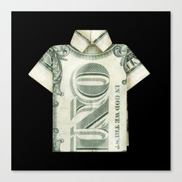 One dollar shirt Canvas Print
