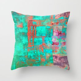 Abstract Ladder Throw Pillow