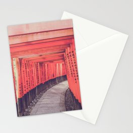 Red torii Kyoto Japan Stationery Cards