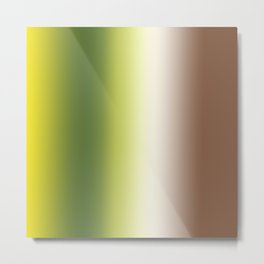 Ombre Shades of Green 1 Metal Print