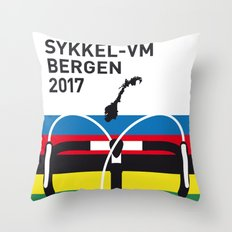 MY ROAD WORLD CHAMPIONSHIPS MINIMAL POSTER 2017 Throw Pillow