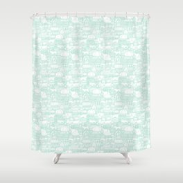 Delightful Domes - Mint Shower Curtain