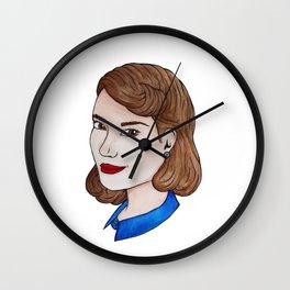 Watercolour Peggy Carter Wall Clock