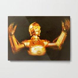 C3PO Pop Art Metal Print