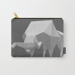 Low polygon style bull Carry-All Pouch