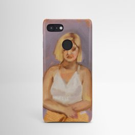 Oil study violet Android Case