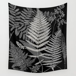 The fern paradise- a plea for the culture of ferns - Francis George Heath - 1908 Ink Black and White Wall Tapestry