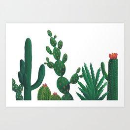 Gouache Cacti Art Print