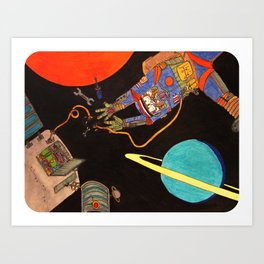 """You're Going to Die in Space!!"" Art Print"