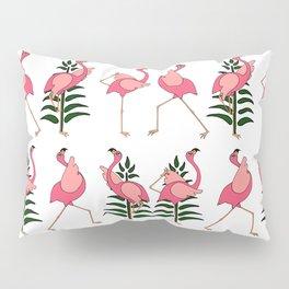 Flamingo practicing Yoga Pillow Sham