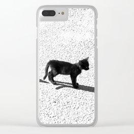 Cute cats shadows Clear iPhone Case