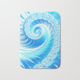 Frozen Vortex Bath Mat