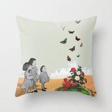 Butterfly Terrarium Throw Pillow