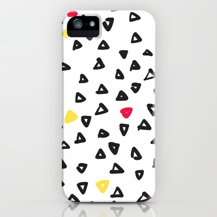 doodle triangles iPhone Case